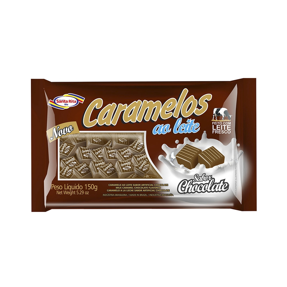Milk Caramel Chocolate Flavored Chewable Candy